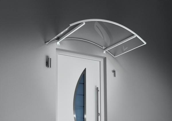 Bogenvordach mit LED Technik weiß