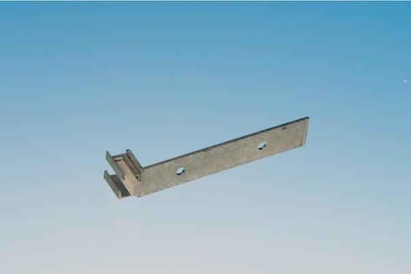 Alu-Dachrinnen-Halter für seitliche Montage inkl. Klemmkeil