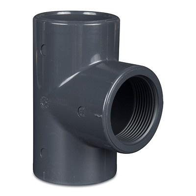PVC Rohr T Stück 90° mit Innengewinde