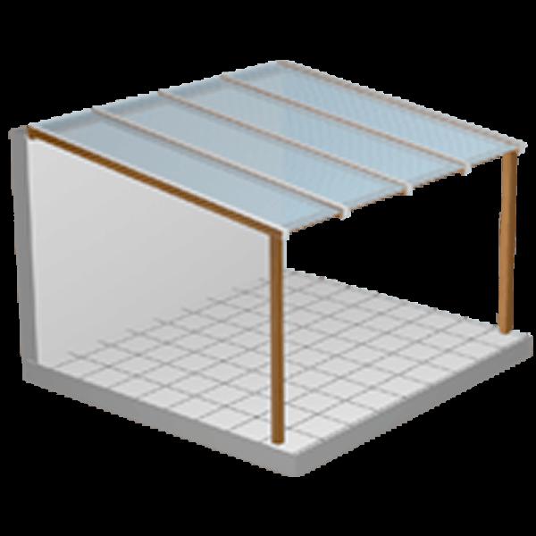 Terrassendach Komplettbausatz Plexiglas Stegplatten