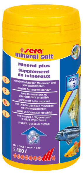 sera Aquarium mineral salt Wasserpflege